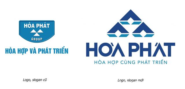 Logo mới của tập đoàn hòa phát