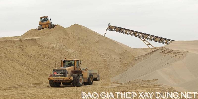 Bãi cát xây dựng trữ lượng lớn, cung cấp cát xây dựng các loại : cát lấp, cát xây, cát tô, cát bê tông, cát đồng nai, cát vàng...