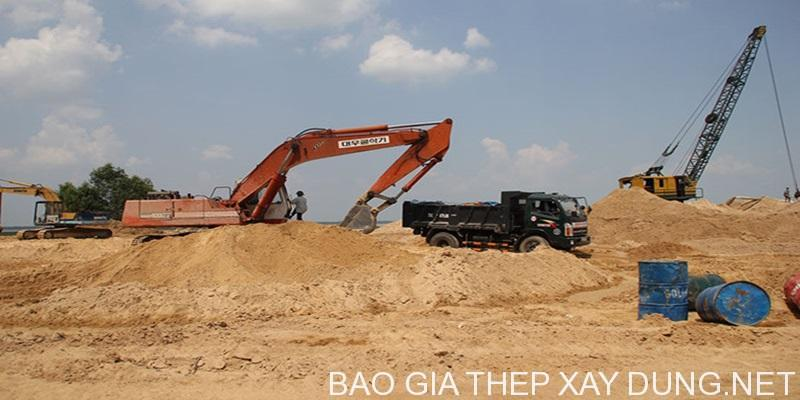 Giá cát xây dựng hôm nay tại tỉnh Bình Dương