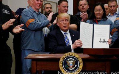 Tổng thống Donald Trump ra quyết định mới về thuế thép, nhôm